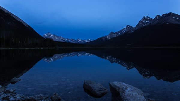 Sunset to the night sky timelapse in Kananaskis Country Royalty-free stock video