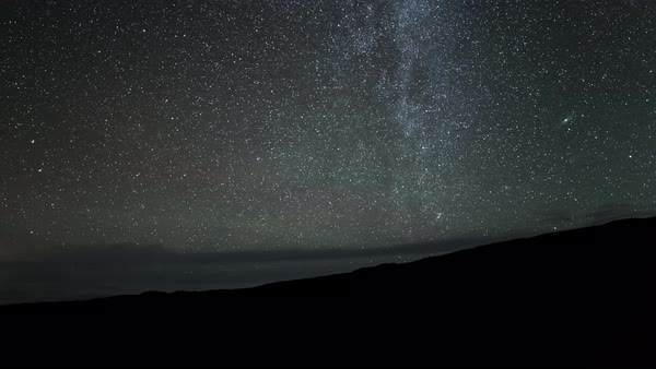 Earths horizon rolling timelapse with fixed stars Royalty-free stock video