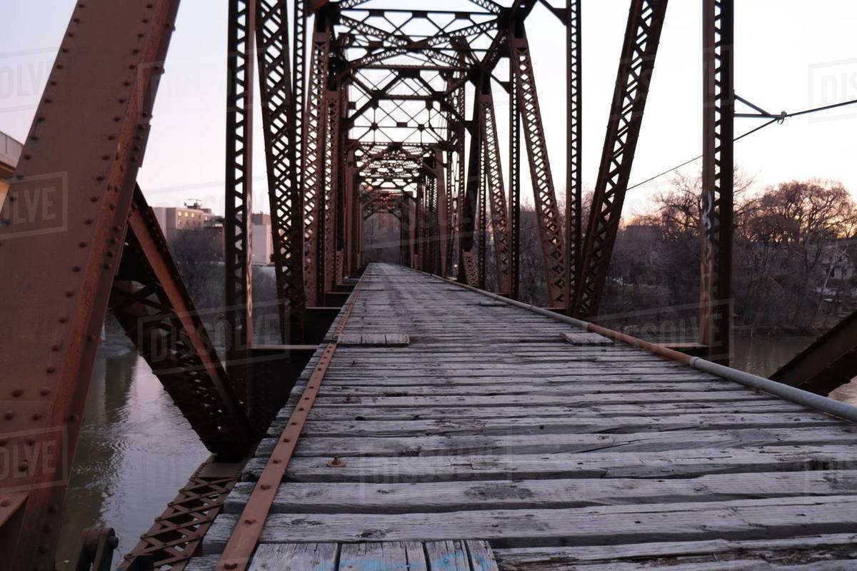 Train bridge Royalty-free stock photo