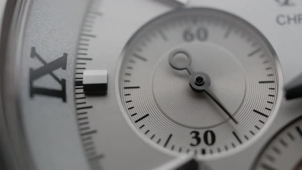 Macro shot of a watch Royalty-free stock video