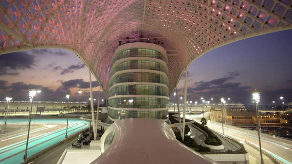 Formula 1 Yas Marina Circuit, Yas Island, Abu Dhabi, United Arab Emirates, UAE Royalty-free stock video