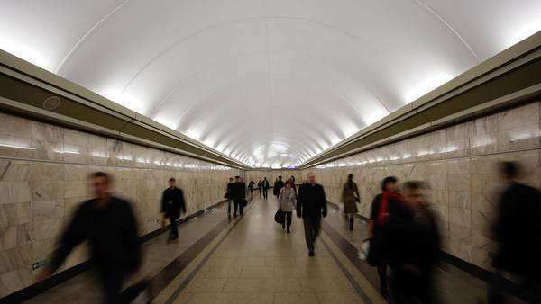 Russia, Saint Petersburg, Metro system - timelapse Royalty-free stock video