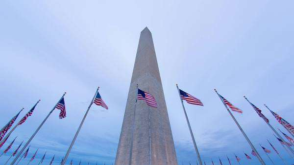 timelapse of the Washington Memorial Monument, Washington DC. United States of America Royalty-free stock video