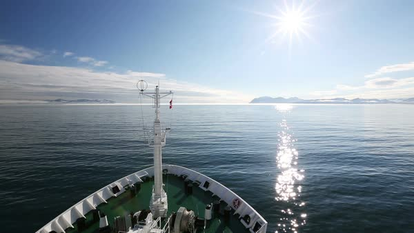 On board the Russian research vessel, Akademik Sergey Vavilov Rights-managed stock video