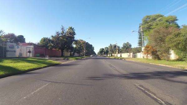 GoPro timelapse shot driving through Johannesburg Rights-managed stock video