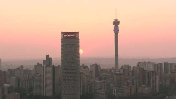 The johannesburg skyline at sunset stock video footage dissolve the johannesburg skyline at sunset royalty free stock video altavistaventures Choice Image