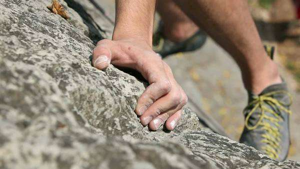 Details of a rock climbing Royalty-free stock video