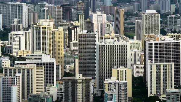 Highrises in Honolulu, Hawaii Royalty-free stock video