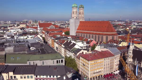 High angle classic establishing shot of Munich Germany. Royalty-free stock video