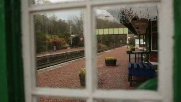 Spean bridge train station in the Scottish highlands Royalty-free stock video