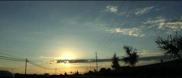 Anamorphic sunset flares while driving. Royalty-free stock video
