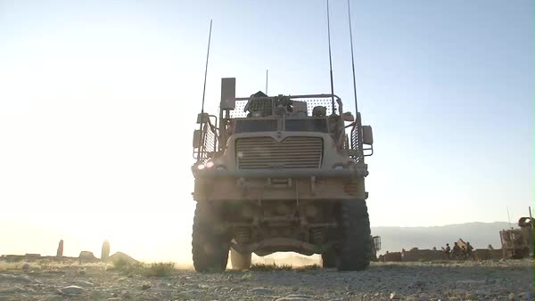American troops remain vigilant while on patrol in Afghanistan. Royalty-free stock video