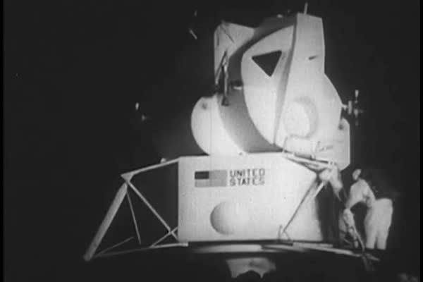 Initial preparations five years before moon landing, including the rigors of space and spacesuit design in the 1960s. Royalty-free stock video