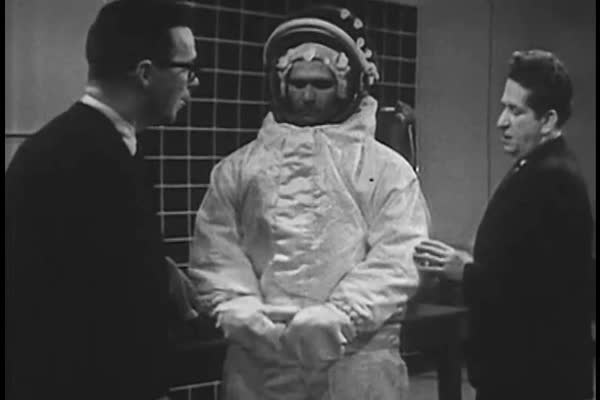 Fascinating visual demonstrations of early astronauts simulating weightlessness and the tools and machinery used to accomplish these simulations in the 1960s. Royalty-free stock video