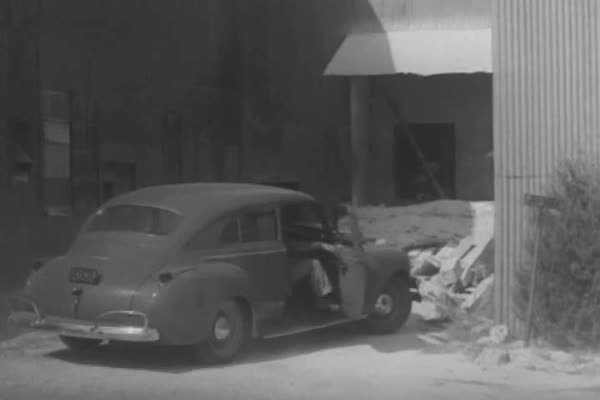 Dust from dry drilling in mines is reduced with a water apparatus after an investigation by a National Institute of Health field unit, in 1943. Royalty-free stock video