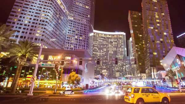 Hyperlapse of the traffic in Las Vegas Rights-managed stock video