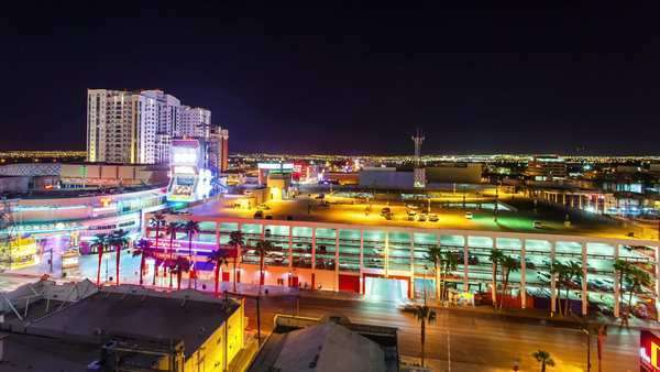 Hyperlapse of Las Vegas at night Rights-managed stock video