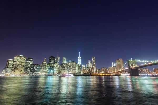 Hyperlapse shot of Lower Manhattan at night Rights-managed stock video
