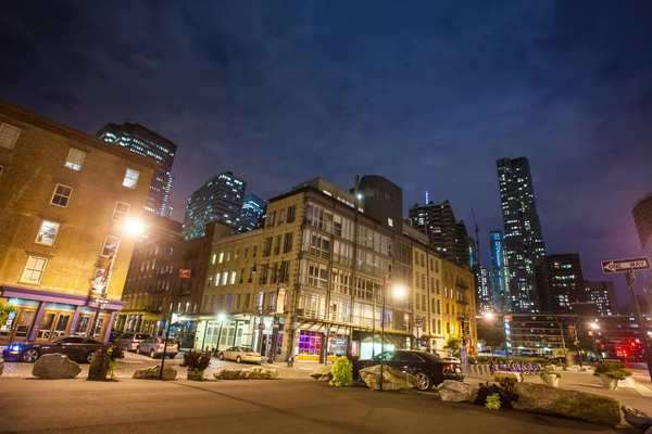 Hyperlapse shot of a street in New York City at night Rights-managed stock video