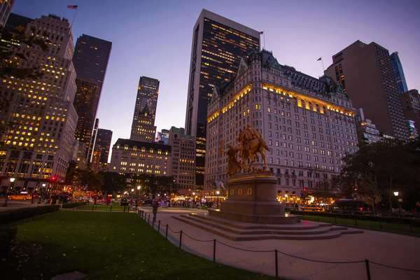 Hyperlapse shot of the Sherman Memorial in Manhattan Rights-managed stock video
