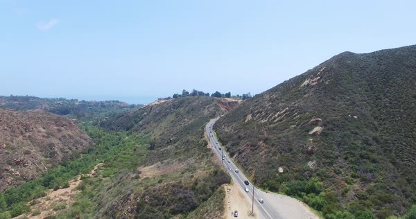 Aerial shot of a road in California, USA Royalty-free stock video