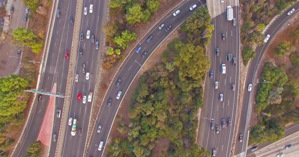 Top view of highway junction Royalty-free stock video