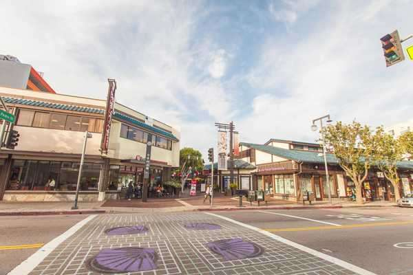 Hyperlapse of Little Tokyo area in Los Angeles Royalty-free stock video
