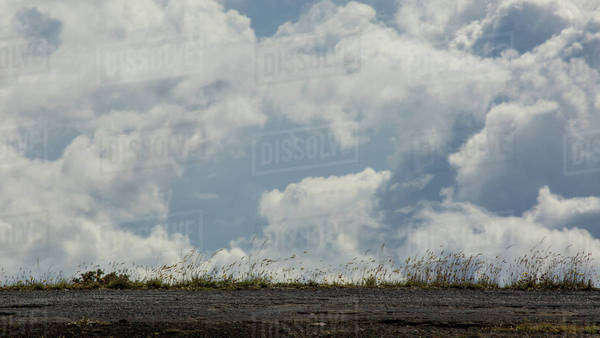 The edge of the earth looking out at clouds Royalty-free stock photo