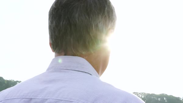 Slow motion of a man standing outdoors Royalty-free stock video