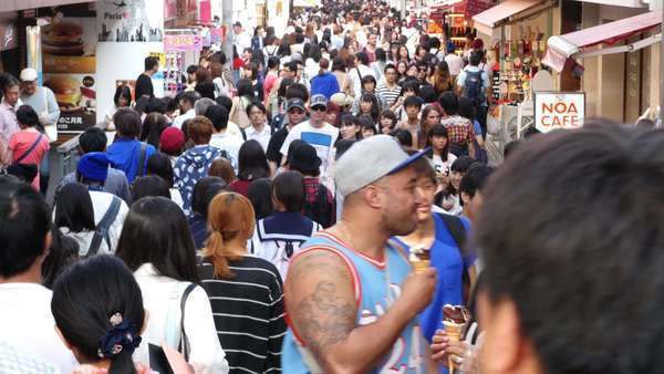 Timelapse of Crowded Takeshita Street in Harajuku -  Tokyo Japan Royalty-free stock video