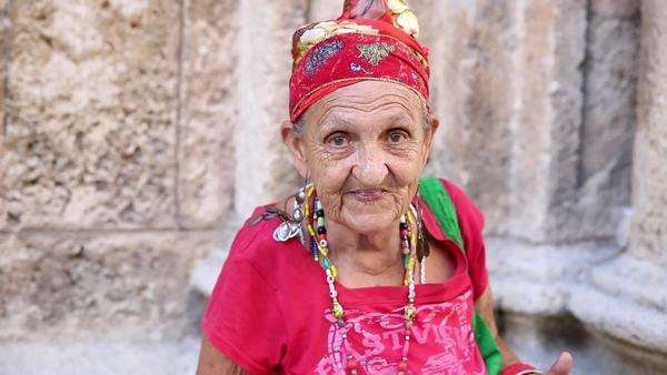 Funny Cuban woman in Havana, Cuba Royalty-free stock video