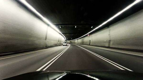 Driving in tunnel Royalty-free stock video