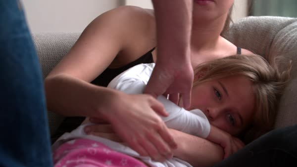 Mother And Daughter Suffering From Domestic Abuse Royalty-free stock video