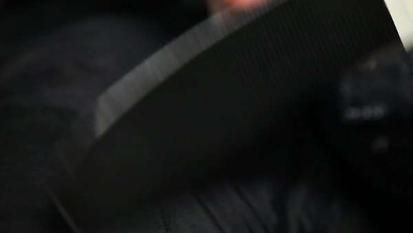 Close up shot of hockey player wrapping tape around his hockey stick Royalty-free stock video