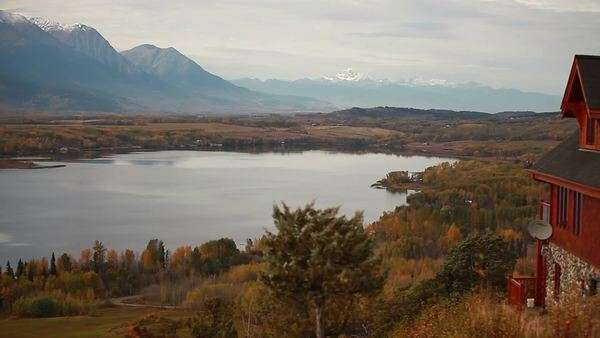 Wide shot of Canadian valley in the fall Royalty-free stock video
