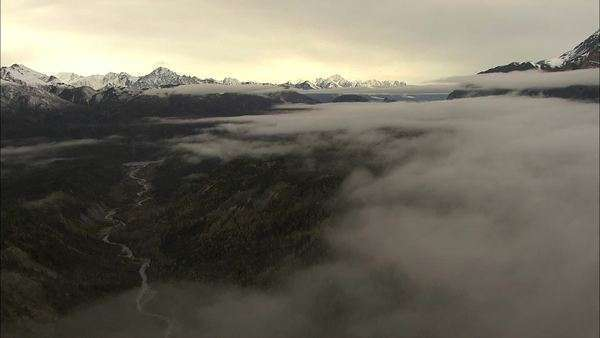 Aerial shot of Alaska Royalty-free stock video