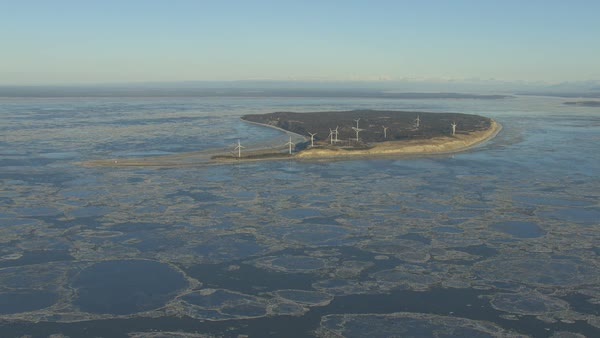 Alternative energy modern technology Wind Farm producing renewable ...
