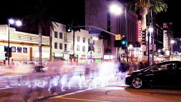 timelapse, Hollywood and Highland Royalty-free stock video