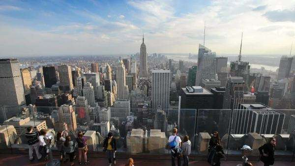 Top of the Rock Rockefeller Center, New York City Royalty-free stock video