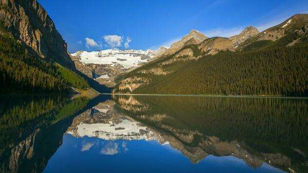 Banff National Park, Canada, Lake Louise, timelapse Royalty-free stock video