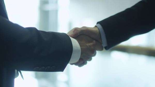 Businessmen handshake Royalty-free stock video