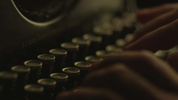 Type on vintage manual typewriter Royalty-free stock video