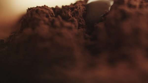 Flowing down liquid chocolate. Royalty-free stock video