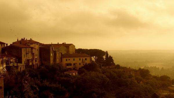 Landscape of Italy at sunset. Royalty-free stock video