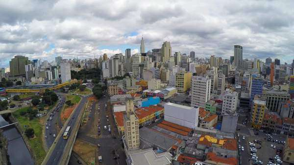 Aerial view of Sao Paulo downtown, Brazil Royalty-free stock video