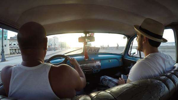 Driving vintage car in Havana, Cuba Royalty-free stock video