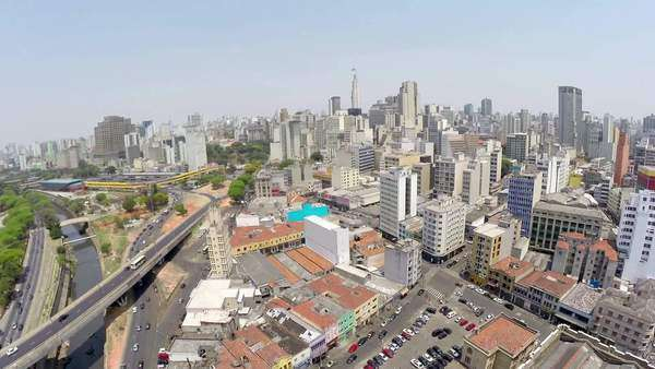 Aerial view from Sao Paulo Downtown, Brazil Royalty-free stock video