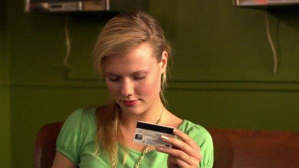 A teenage girl shopping online, Sweden. Royalty-free stock video