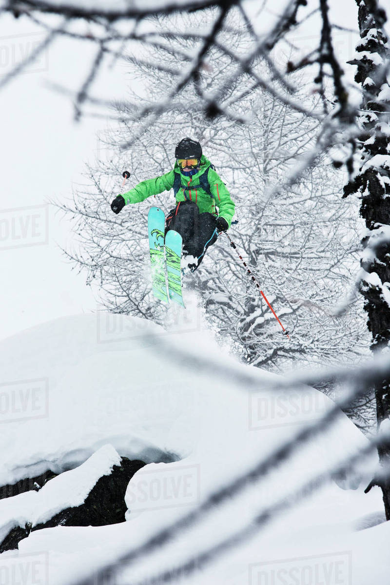 Person skiing Royalty-free stock photo
