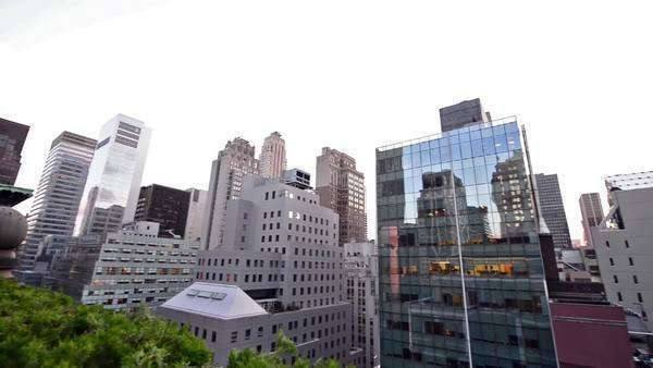 NYC skyline and skyscrapers panorama Royalty-free stock video